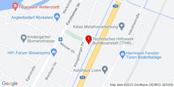 Google Map of Königsberger Straße 32, 91083 Baiersdorf