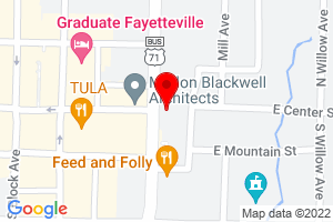Google Map of 4 S College Ave, Fayetteville, AR