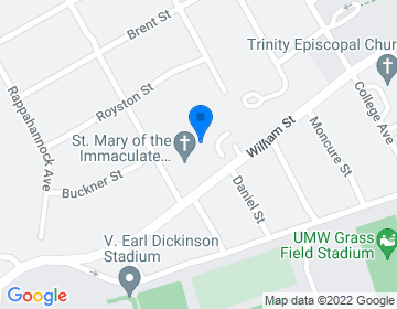 Google Map of <p>Ecumenical and Interreligious Affairs <br />Rev. Donald Rooney, Director</p><p>1009 Stafford Avenue<br />Fredericksburg, VA 22401 </p>