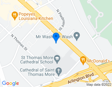 Google Map of 200 N. Glebe Rd., Suite 250Arlington, VA 22203We are also accepting cars in Leesburg at St. John the Apostle Catholic Church. Please call the main phone for more details.