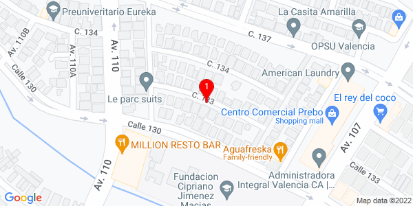 Google Map of Venezuela (Valencia)