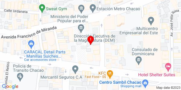Google Map of Venezuela (Caracas)