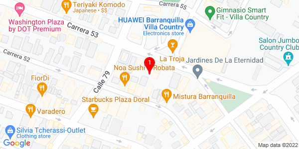 Google Map of Colombia (Barranquilla)