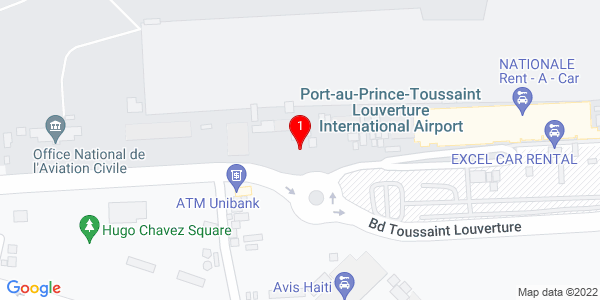 Google Map of Haïti (Departure Terminal Airport Office)