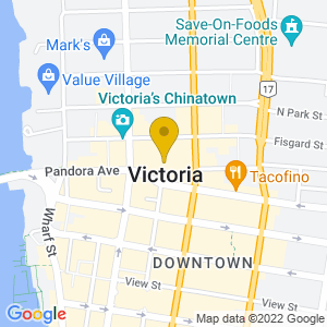 Map to McPherson Playhouse provided by Google