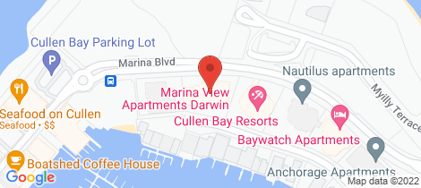Location map for 64/32 Marina Bvd Cullen Bay