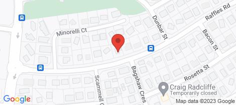 Location map for 36 Raffles Rd Gray