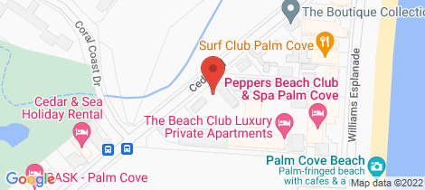 Location map for 7/21-25 Cedar Road Palm Cove