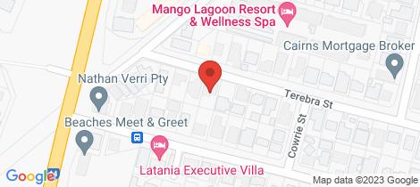 Location map for 63 Terebra Street Palm Cove