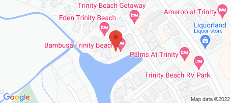 Location map for 19 Lagoon Drive Trinity Beach