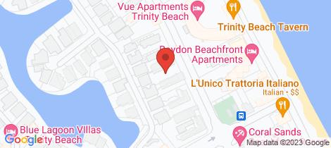 Location map for 2/71-73 Moore Street Trinity Beach