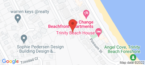 Location map for 20 Moore Street Trinity Beach