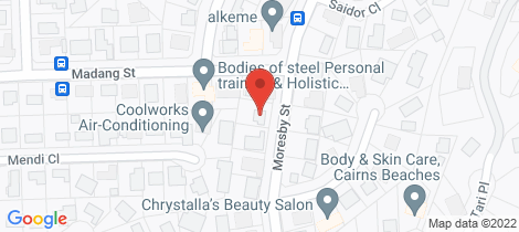 Location map for 46 Moresby Street Trinity Beach