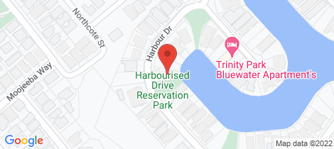 Location map for 81 Harbour Drive Trinity Park