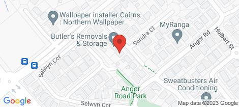 Location map for 9 Kimberley Street Trinity Park