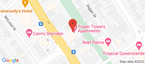 Location map for 26/294 Sheridan Street Cairns North