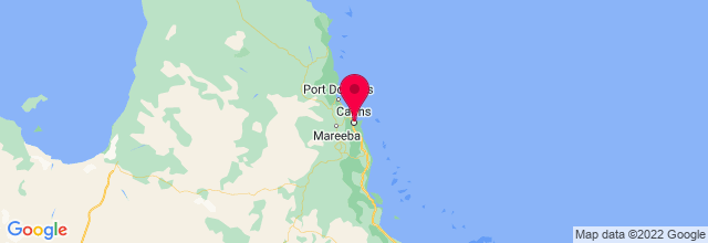Map of Cairns, QLD, Australia
