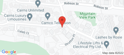 Location map for 1 Rosemont Court Mooroobool