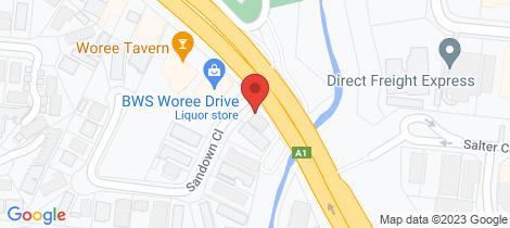 Location map for 1/1 Sandown Close Woree