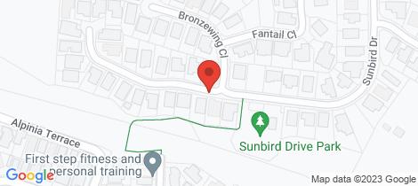 Location map for 70 Sunbird Drive Woree