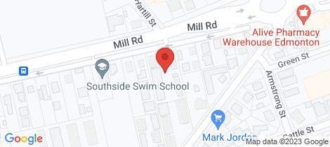 Location map for 10/27-29 Stokes Street Edmonton