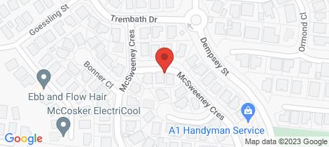 Location map for 39 McSweeney Crescent Gordonvale