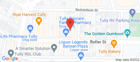 Location map for 38-40 Butler Street Tully