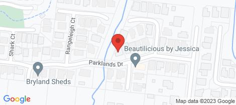 Location map for 17 Parklands Drive Mount Louisa