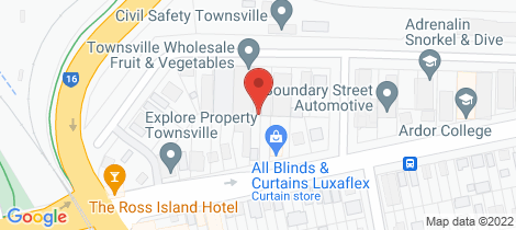 Location map for 115 Boundary Street South Townsville