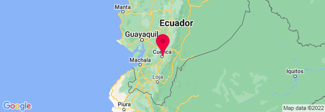 Map of Cuenca, Ecuador