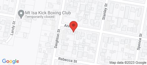 Location map for 44C Deighton Street Mount Isa