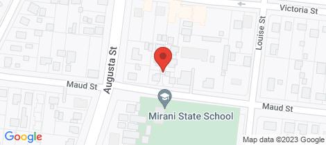 Location map for 9 Maud St Mirani