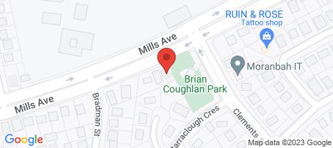 Location map for 174 Mills Avenue Moranbah