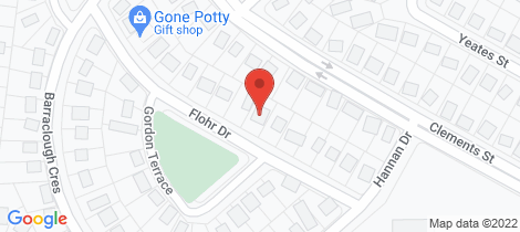 Location map for 10 Flohr Drive Moranbah