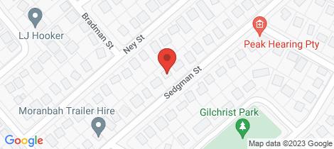 Location map for 24 Sedgman Street Moranbah