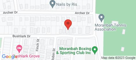 Location map for 16 Bushlark Drive Moranbah