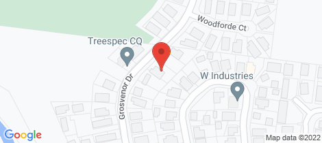 Location map for 42 Grosvenor Drive Moranbah