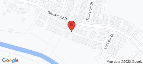 Location map for 85 Grosvenor Drive Moranbah