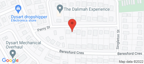 Location map for 15 PERRY STREET Dysart