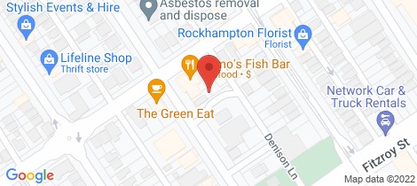 Location map for 89 Kent St Rockhampton City