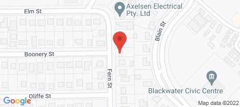 Location map for 14 Fern Street Blackwater