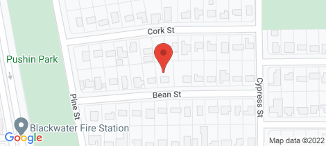 Location map for 14 Bean Street Blackwater