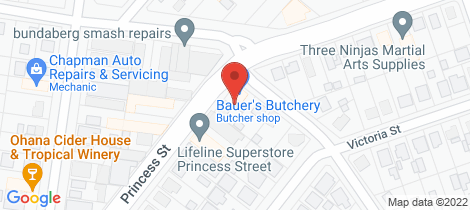 Location map for 74 Princess Street Bundaberg East
