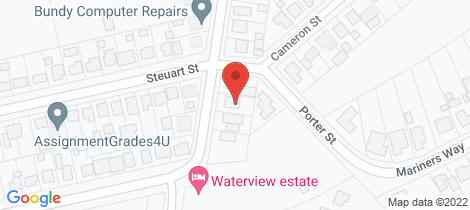 Location map for 2 Waterview Road Bundaberg North