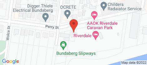 Location map for SHED 8 - 30 Perry Street Bundaberg North