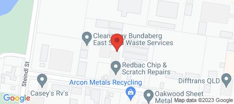 Location map for 7A/7 Steptoe Street Bundaberg East