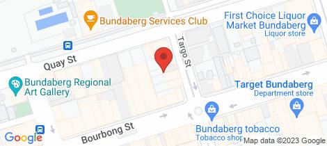 Location map for 11 Targo Street Bundaberg Central