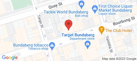 Location map for 57 Bourbong Street Bundaberg Central