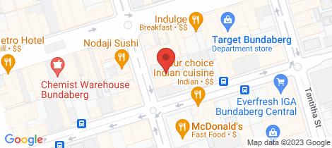 Location map for 26 Targo Street Bundaberg Central