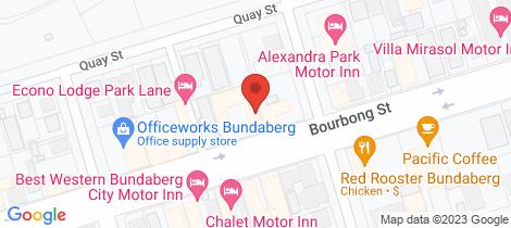 Location map for 7/245 Bourbong Street Bundaberg West